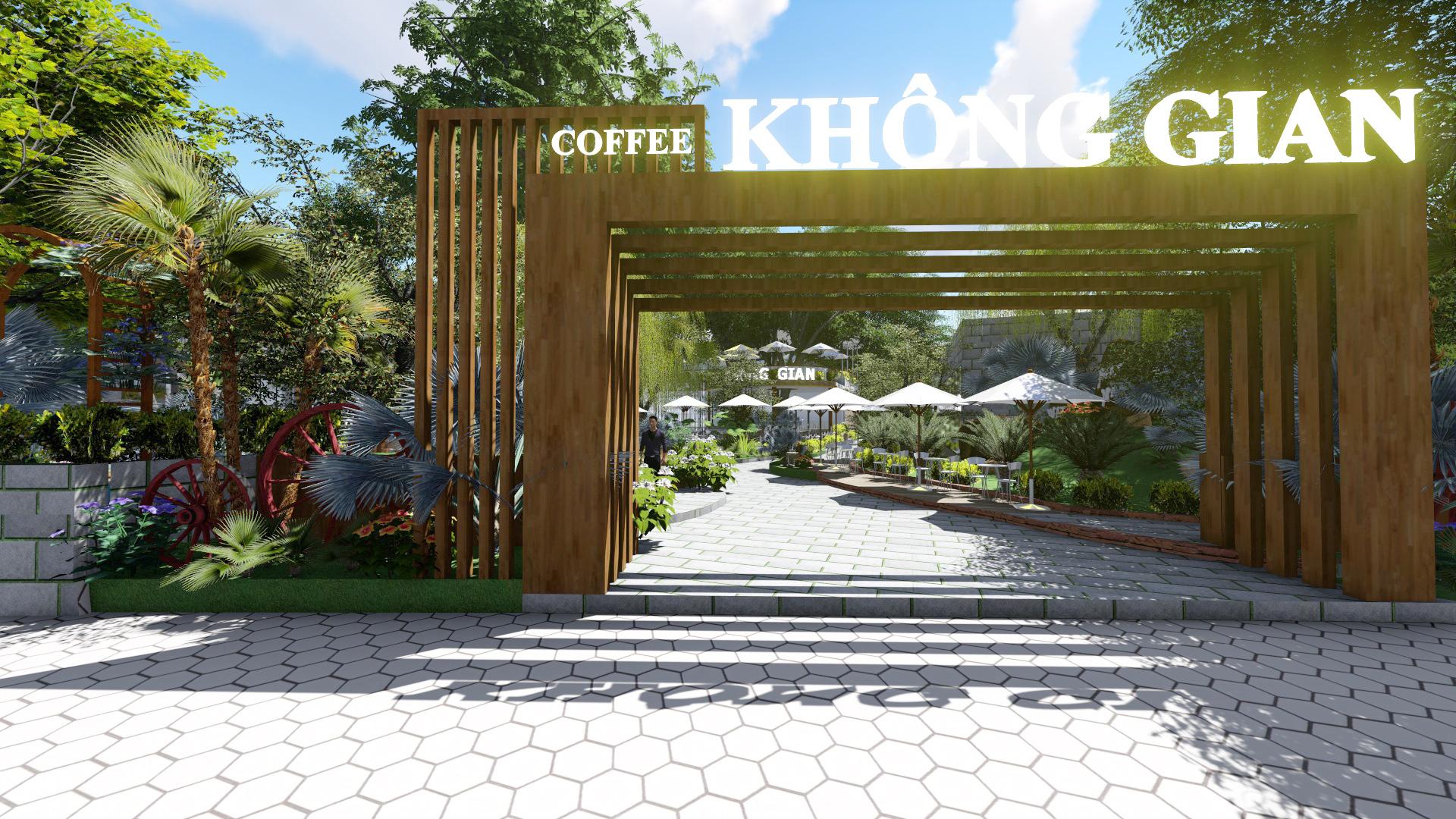 Thiết Kế Quán Cafe Sân Vườn 5400m2 Tại Tp.Bến Tre