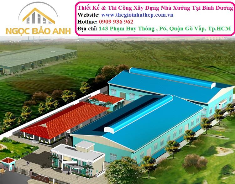 Thi Công Xây Dựng Nhà Xưởng Sản Xuất Tại KCN Nam Tân Uyên Tỉnh Bình Dương